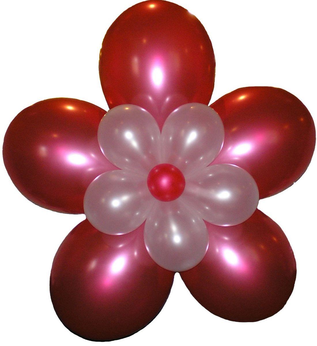 Цветок из надувных шаров
