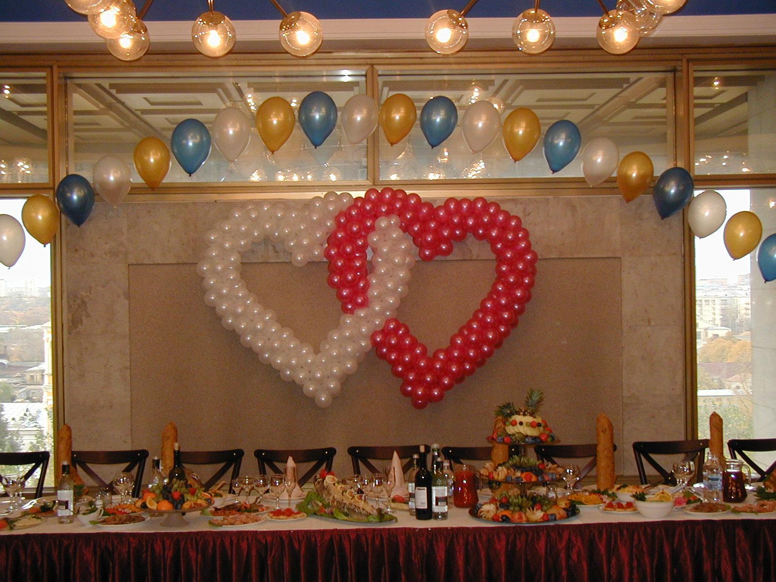Украшение зала шарами на свадьбу своими руками пошагово