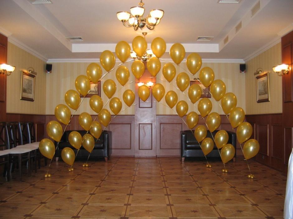 Как украсить зал на шарами своими руками 838